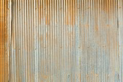 Grunge Corrugated Zinc Sheet Stock Image