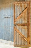 Corrugated Zinc Sheet wall and door Stock Images