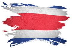Free Grunge Costa Rica Flag. Costa Rica Flag With Grunge Texture. Royalty Free Stock Image - 119961346