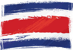 Grunge Costarica flag Stock Images