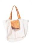Grunge cotton bag on white background Royalty Free Stock Image