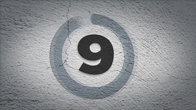 Grunge countdown Royalty Free Stock Photo