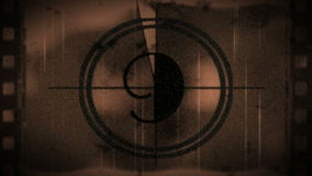 Grunge countdown from ten, stock footage stock video footage