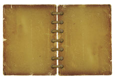 Grunge cover for album with ribbons Stock Photos