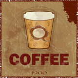 Grunge Cover for Coffee Menu Stock Image