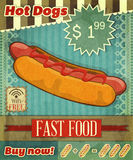 Grunge Cover for Fast Food Menu Royalty Free Stock Photography