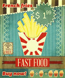 Grunge Cover for Fast Food Menu Stock Photography