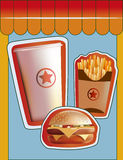 Grunge Cover for Fast Food Menu Stock Images
