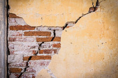 Grunge crack cement wall Stock Photos