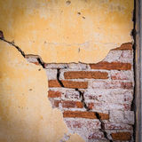Grunge crack cement wall Royalty Free Stock Photos