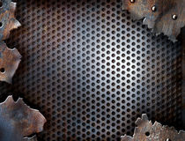 Grunge crack metal background Stock Photo