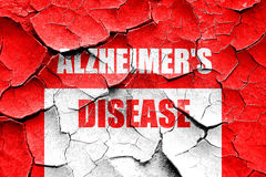 Grunge cracked Alzheimer's disease background Stock Images