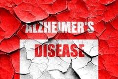 Grunge cracked Alzheimer's disease background Stock Images