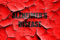 Grunge cracked Alzheimer's disease background Royalty Free Stock Photography