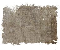 Grunge cracked banner background in sepia tones. Retro design element. Royalty Free Stock Photo