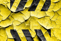 Grunge cracked Black and yellow hazard stripes Royalty Free Stock Images