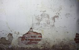 Grunge cracked Brick and Concrete Wall royalty free stock photos