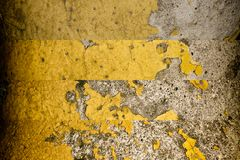 Grunge cracked concrete wall, rock texture, stone background Stock Photos