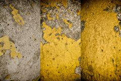 Grunge cracked concrete wall, rock texture, stone background Royalty Free Stock Photos