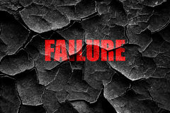 Grunge cracked Failure sign with some smooth lines Stock Images
