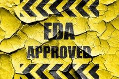 Grunge cracked FDA approved background Stock Images