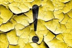 Grunge cracked Hazard warning sign Stock Photography