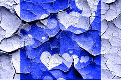 Grunge cracked Hearts love background Royalty Free Stock Photography