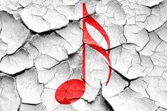 Grunge cracked Music note background Royalty Free Stock Photo