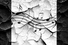 Grunge cracked Music note background Stock Image