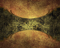 Grunge cracked structure with a yellow tinge to dark plate.  Royalty Free Stock Photography