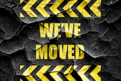 Grunge cracked We've moved sign Royalty Free Stock Image