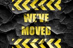 Grunge cracked We've moved sign Royalty Free Stock Image