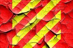 Grunge cracked Yankee maritime signal flag Stock Images