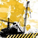 Grunge cranes o vetor ilustração royalty free