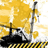 Grunge cranes vector Royalty Free Stock Photography