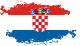 Grunge croatia flag royalty free stock image