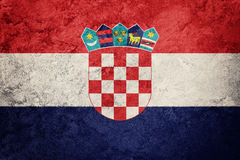 Grunge Croatia flag. Croatian flag with grunge texture. royalty free stock images