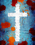 Grunge cross. Grunge background with cross and spots royalty free illustration