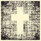 Grunge cross. Cross on grunge background texture royalty free illustration