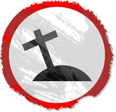 Grunge cross sign Royalty Free Stock Photography