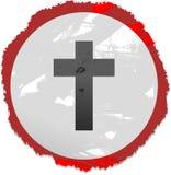 Grunge cross sign Stock Image