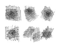 Grunge crosshatching textures set. vector eps8 Royalty Free Stock Photography