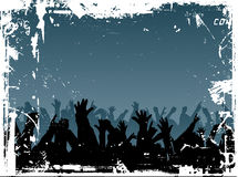 Grunge crowd vector illustration