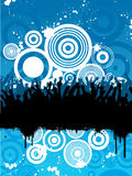 Grunge crowd Stock Images