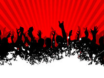 Grunge crowd. Silhouette of an excited crowd on a grunge background Stock Photo