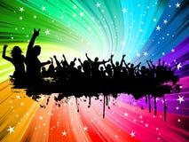 Grunge crowd background Stock Photo