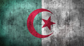 Grunge crumpled Algeria flag. 3d rendering Stock Photo