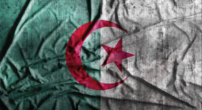 Grunge crumpled Algeria flag. 3d rendering Royalty Free Stock Image