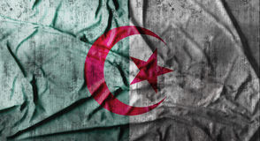Grunge crumpled Algeria flag. 3d rendering Royalty Free Stock Photo