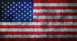Grunge crumpled american flag. 3d rendering. Grunge crumpled american flag background with dirt. 3d rendering Stock Photography